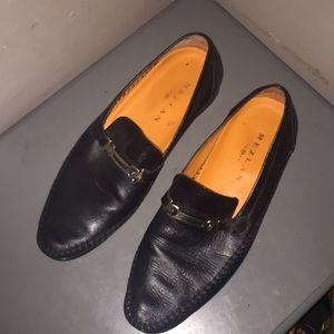 Mezlan 1968 Black leather dress shoes 10.5 Spain